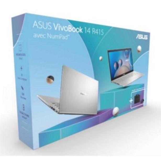 Ordinateur portable Asus Pack R415JA-EK143T Numpad+Sacoche+Souris offre à 549€