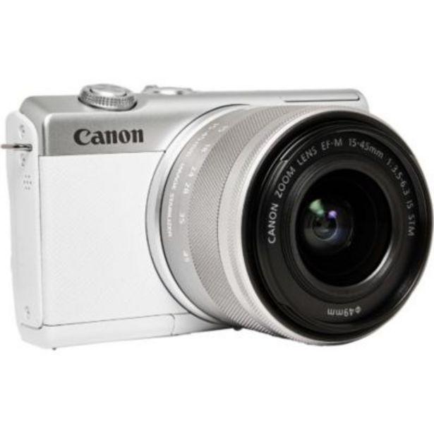 Appareil photo Hybride Canon EOS M200 Blanc + EF-M 15-45mm IS STM offre à 499€