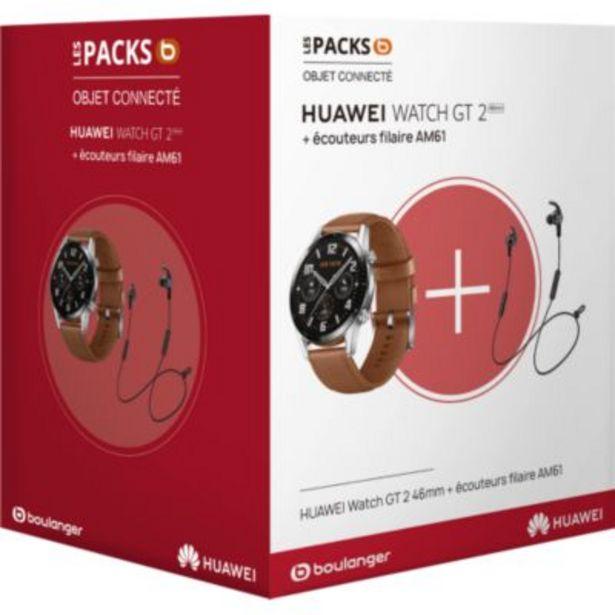 Montre connectée Huawei Pack Watch GT 2 Marron 46mm+AM61 offre à 149€