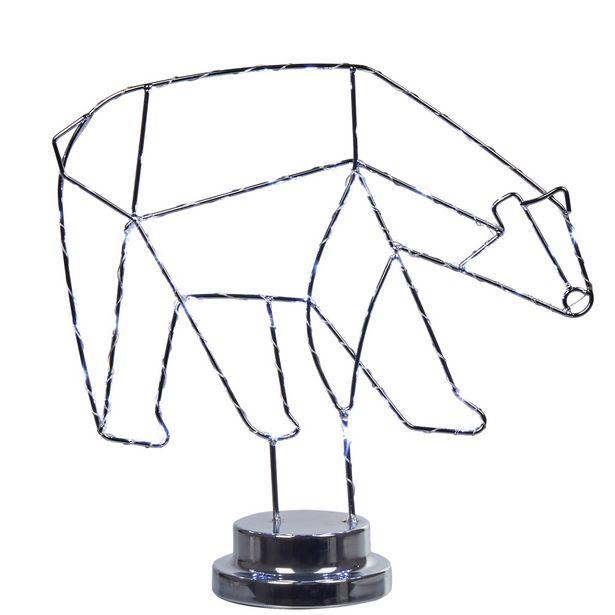 Lampe déco torsadé banquise forme ours fer offre à 12€