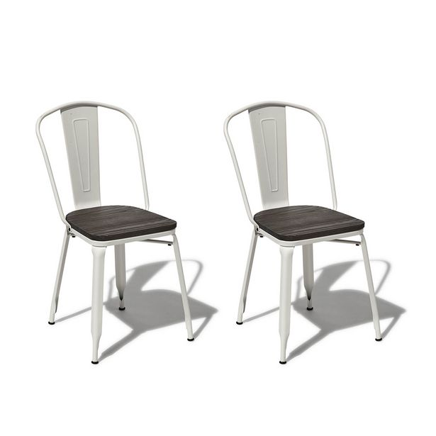Chaise Timothy blanche x 2 offre à 149€
