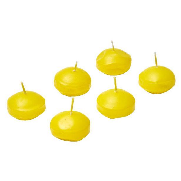 Bougie flottante citronnelle x6 offre à 6€