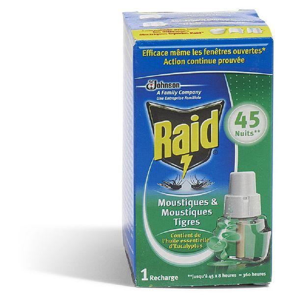 Recharge électrique anti-moustiques liquide RAID offre à 7,99€