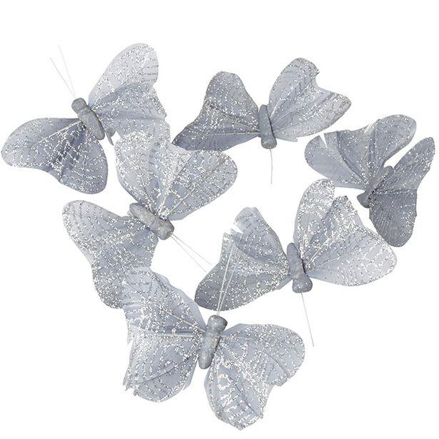 Papillon argenté x6 offre à 8,9€