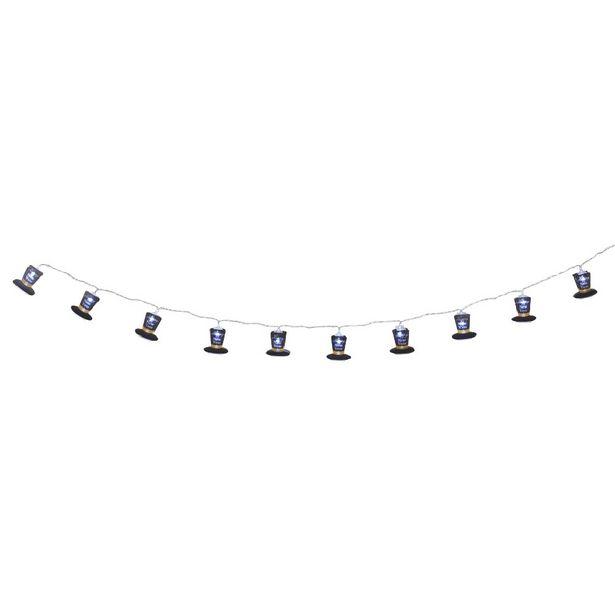 Guirlande lumineuse 10 LED chapeaux Happy New Year 1,75 m offre à 6,03€