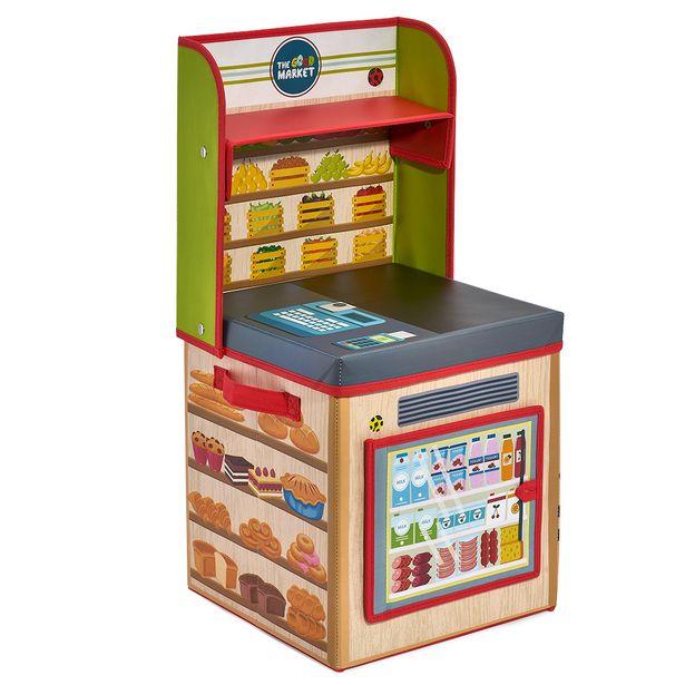 Boîte de rangement 2en1 comptoir de marchand pour enfant offre à 15€
