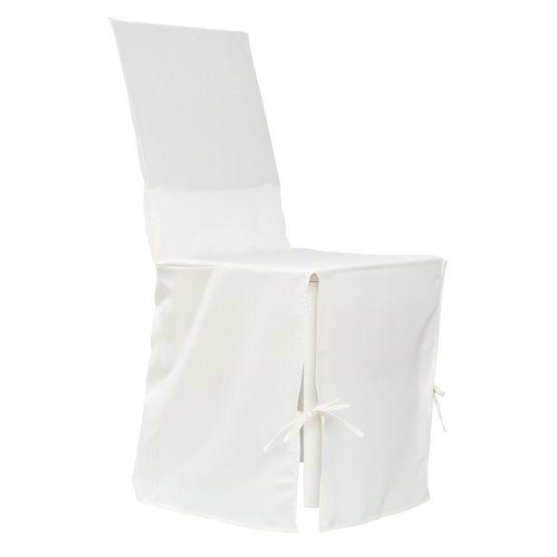 Housse de chaise crème à nouettes offre à 6,99€