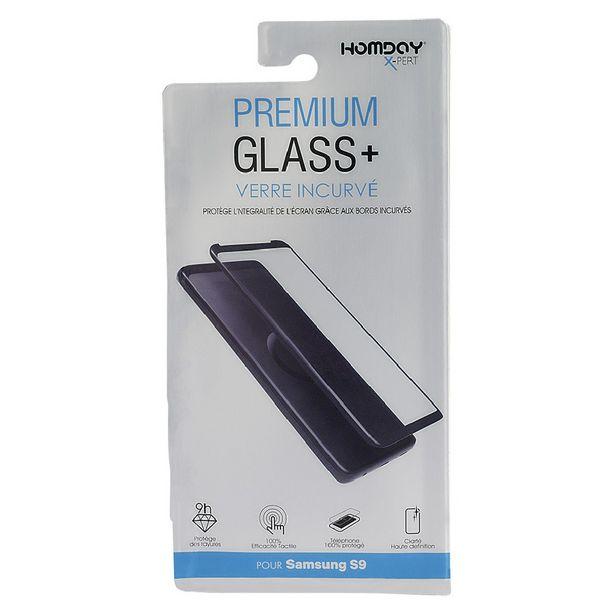 Verre trempé incurvé pour Samsung S9 transparent offre à 10€