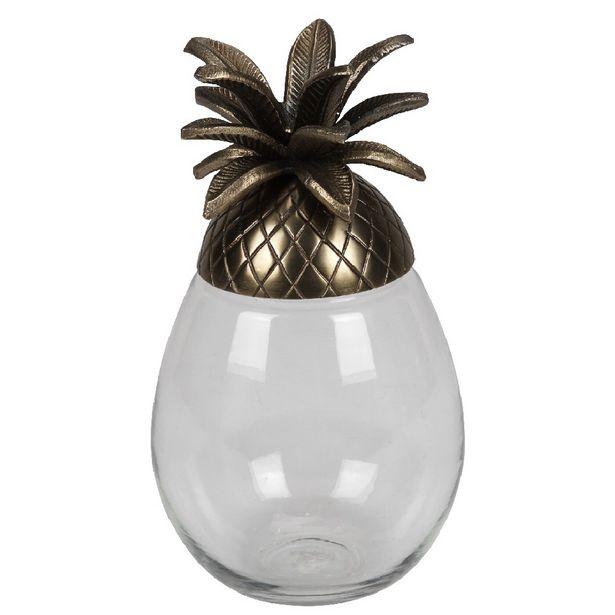 Boite de rangement ananas verre et or Collection Tropical offre à 26,9€