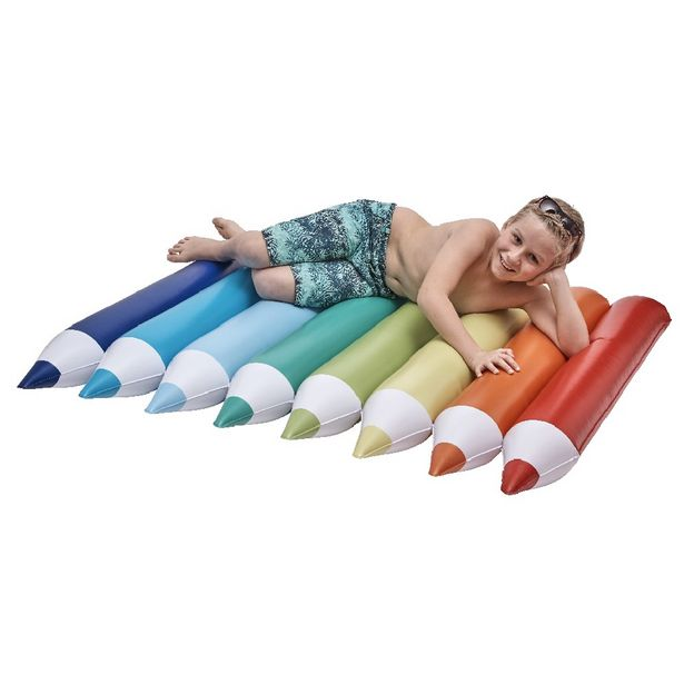 Matelas gonflable crayons multicolores offre à 17€