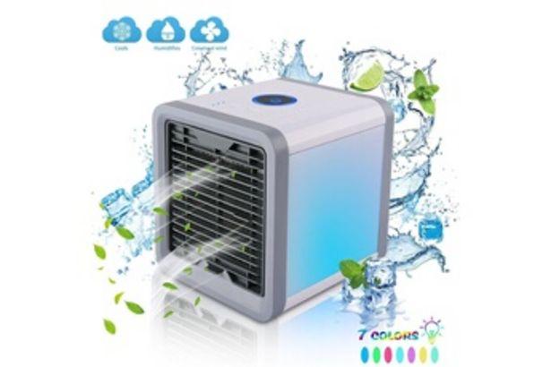 Climatiseur Mini climatiseur portable usb blanc de refroidissement de l'air humidificateur purificateur pour bureau de chambre à coucher offre à 22,55€