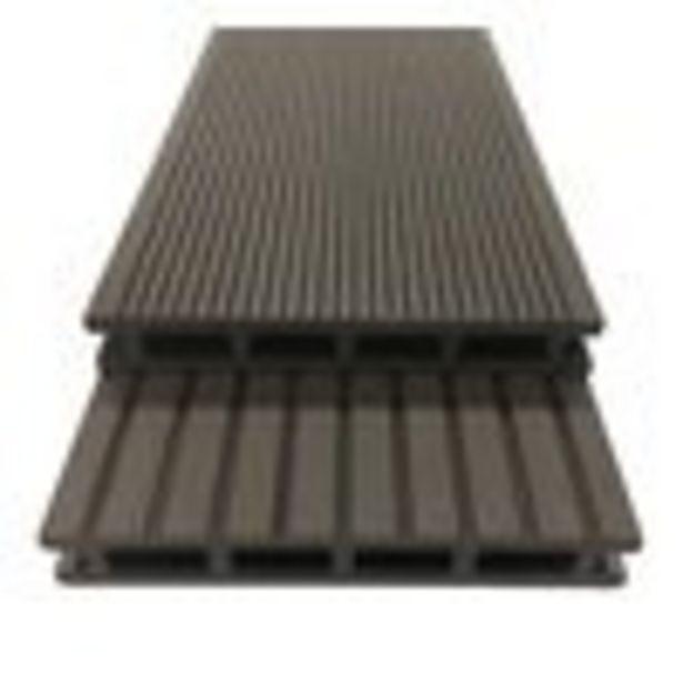 Kit complet de terrasse composite Couleur chocolat L. 195 x l 14,6cm offre à 299,9€