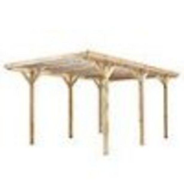 Carport bois autoporté BAMAKO 15 m² - Toit PVC - Poteaux 9 x 9 cm offre à 569,9€