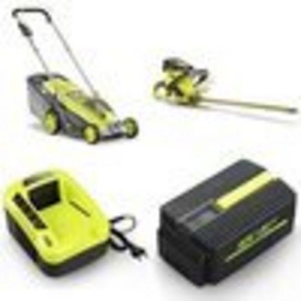 Tondeuse poussée à batterie e-MOOV 40V - 37cm + Taille haies + Chargeur 40V + Batterie Samsung offre à 299,9€