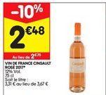 Vin de france cinsault rosé offre à 2,48€