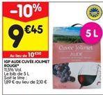 Igp aude cuvée jolimet rouge offre à 9,45€