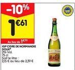 Igp cidre de normandie offre à 1,61€
