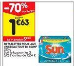 30 tablettes pour lave-vaisselle Sun offre à 5,43€