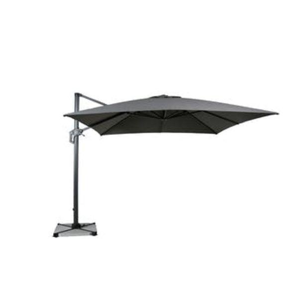 Parasol déporté rotatif gris foncé chiné 300 cm offre à 399€