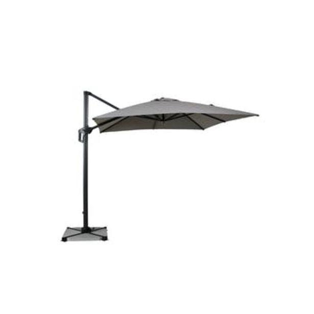 Parasol déporté rotatif gris clair 250 cm offre à 349€