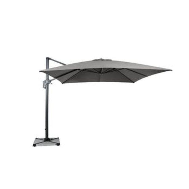 Parasol déporté rotatif gris clair chiné 300 cm offre à 399€