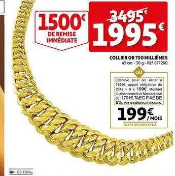 Collier or 750 milliemes offre à 1995€