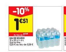 Eau de source  offre à 1,51€