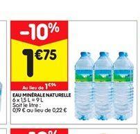 Eau minérale naturelle  offre à 1,75€