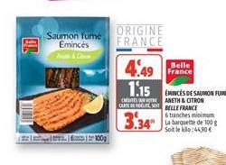 Eminces de saumon fume aneth & citron belle france offre à 3,34€