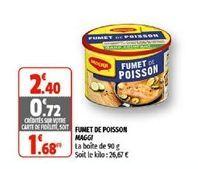 Fumet de poisson maggi offre à 1,68€