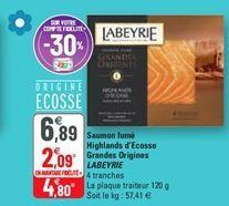 Saumon fumé Highlands d´Ecosse Grandes Origines Labeyrie offre à 4,8€