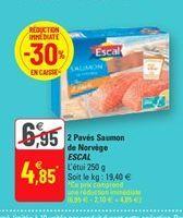 2 paves saumon de norvege escal offre à 4,85€