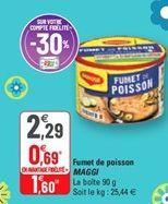 Fumet de poisson MAGGI offre à 1,6€