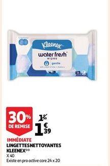 Linguettes nettoyantes kleenex offre à 1,39€