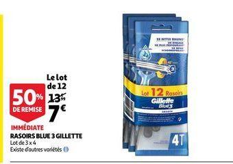 Rasoirs blue 3 gillette offre à 7€
