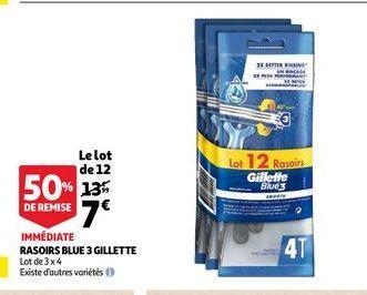 Rasoir blue 3 gilette offre à 7€