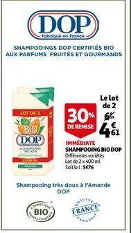 Shampoing bio DOP offre à 4,61€