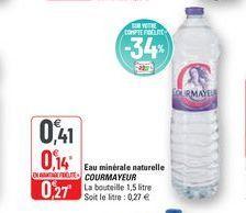 Eau minérale naturelle Courmayeur offre à 0,41€
