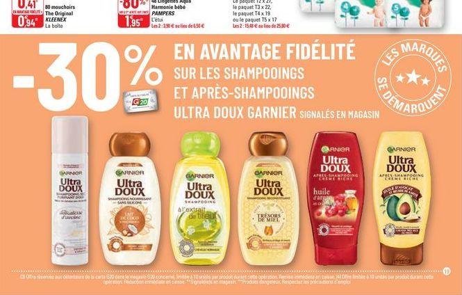 Les Shampoing et après et shampooing Garnier offre à