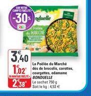 Poêlée du marché dés de brocolis, carottes, courgettes, edamame Bonduelle offre à 3,4€