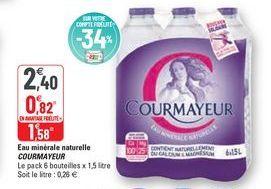 Eau minérale naturelle Courmayeur offre à 2,4€
