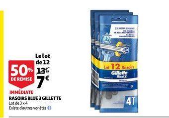 Rasoir blue 3 gillette offre à 7€