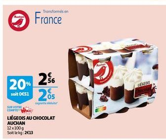 Liègeois au chocolat auchan offre à 2,56€