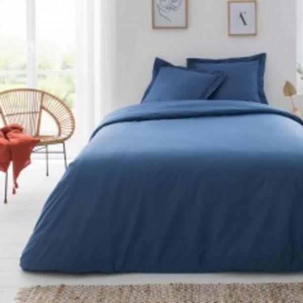 Housse de couette Bleu Coton - 200x200 offre à 59€