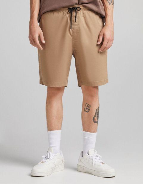 Bermuda jogger coton brodé offre à 11,99€
