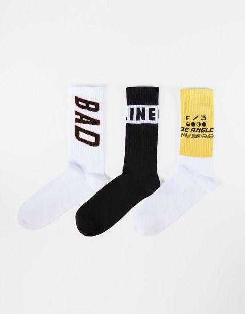 Lot 3paires de chaussettes imprimées offre à 5,99€