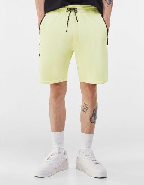 Bermuda jogger molleton poches offre à 9,59€
