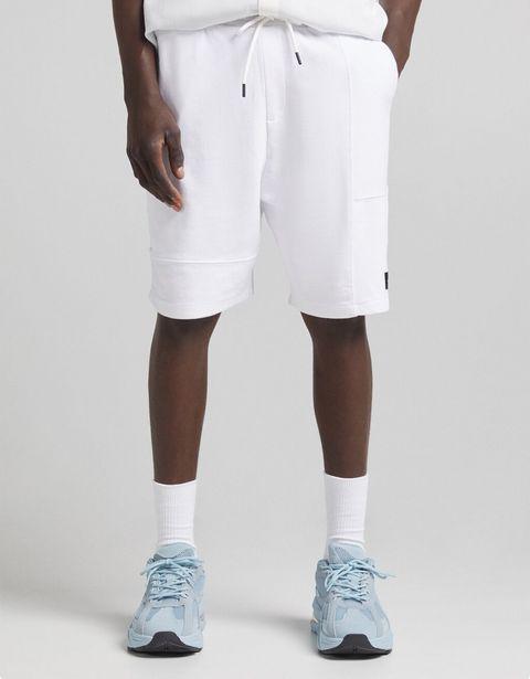 Bermuda jogger molleton color block contraste offre à 9,59€