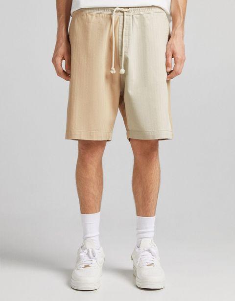 Bermuda jogger coton chevrons offre à 15,59€