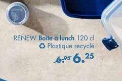RENEW boîtes a lunch  offre à 6,25€